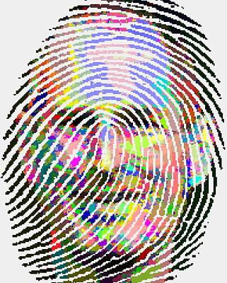 Painting - Steve Jobs - Fingerprint by Samuel Majcen