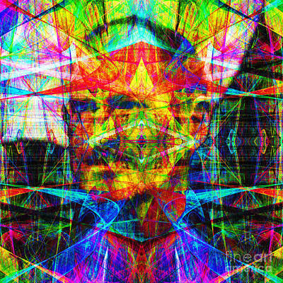Bay Area Digital Art - Steve Jobs Ghost In The Machine 20130618 Square by Wingsdomain Art and Photography