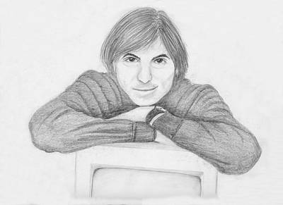 Drawing - Steve Jobs by M Valeriano
