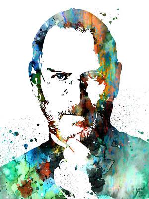 Steve Jobs Painting - Steve Jobs by Watercolor Girl