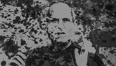 Music Ipod Digital Art - Steve Jobs Paint Splatter 3b by Brian Reaves