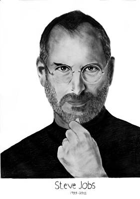 Ipad Drawing - Steve Jobs by Raghav Ram