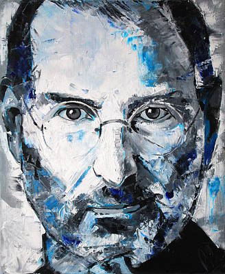 Computer Art Painting - Steve Jobs by Richard Day