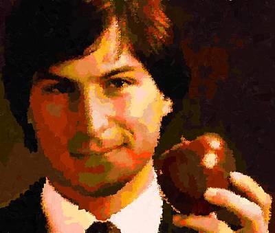 Painting - Steve Jobs by Samuel Majcen