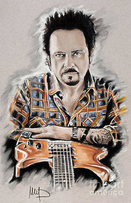 Singer Drawing - Steve Lukather by Melanie D