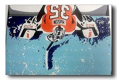 Philadelphia Flyers Painting - Steve Mason  by Joseph B Miller