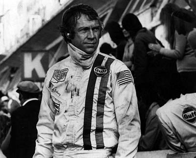 Steve Mcqueen In Racing Gear Art Print