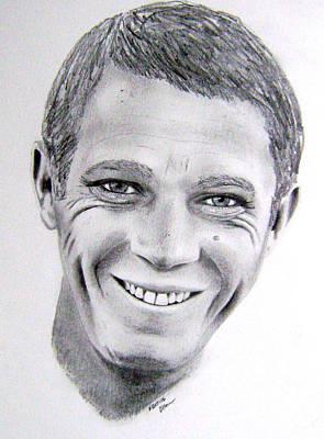 Steve Mcqueen Drawing - Steve Mcqueen by Wayne Ratti
