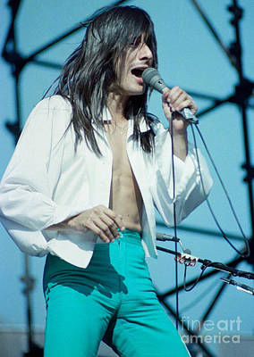 Steve Perry Of Journey At Day On The Green - July 1980 Art Print by Daniel Larsen