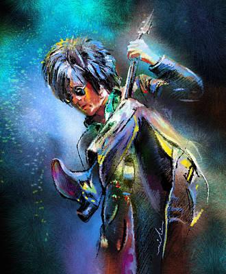 Music Paintings - Steve Stevens by Miki De Goodaboom