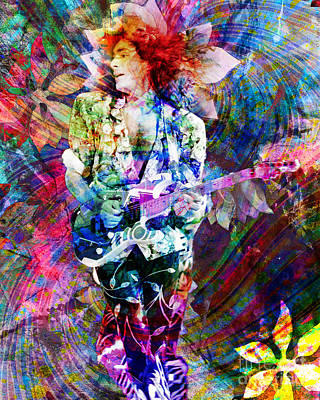 Steve Vai Original Painting Print Art Print by Ryan Rock Artist