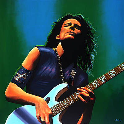 Guitar Player Painting - Steve Vai by Paul Meijering