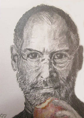 Drawing - Stevejobsandapple by Quwatha Valentine