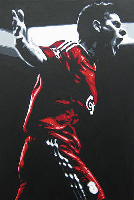 Painting - Steven Gerrard - Liverpool Fc 2 by Geo Thomson