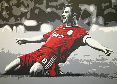 Painting - Steven Gerrard - Liverpool Fc by Geo Thomson