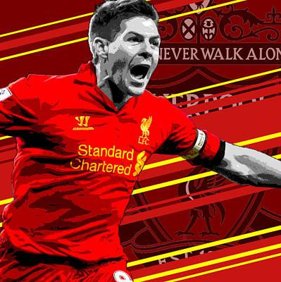 Steven Gerrard Liverpool Print Art Print