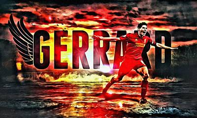 Champion Digital Art - Steven Gerrard Liverpool Symbol by Florian Rodarte