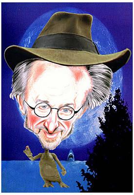 Drawing - Steven Spielberg by Diego Abelenda