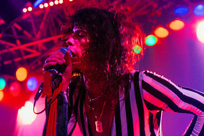 Aerosmith Photograph - Steven Tyler Aerosmith by Michael Mastro