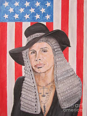 American Idol Judge Painting - Steven Tyler As A Judge Painting by Jeepee Aero