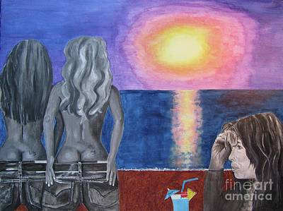 Steven Tyler Painting - Steven Tyler At Sunset by Jeepee Aero