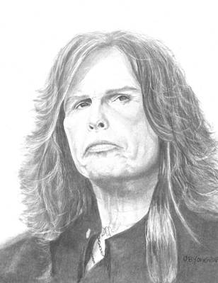 Steven Tyler Drawing - Steven Tyler by Bruce Young