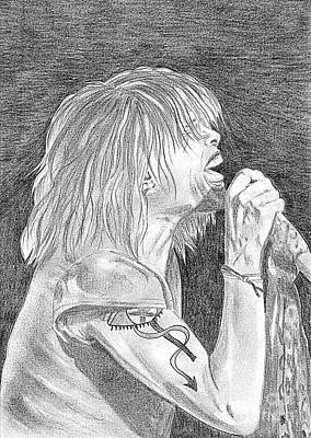 Steven Tyler Drawing - Steven Tyler Concert Drawing by Jeepee Aero