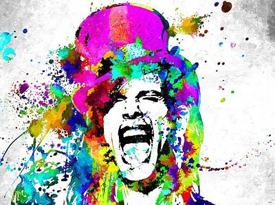 Steven Tyler Mixed Media - Steven Tyler by Daniel Janda