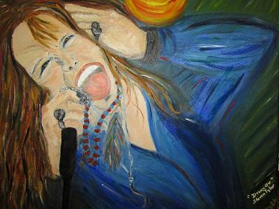 Painting - Steven Tyler by Debby Reid