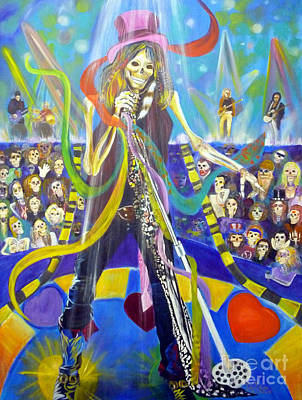 Tom Boy Painting - Steven Tyler In 50 Years by To-Tam Gerwe