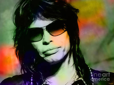Steven Tyler Mixed Media - Steven Tyler by Marvin Blaine