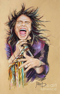 Singer Drawing - Steven Tyler by Melanie D