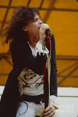 Aerosmith Photograph - Steven Tyler Of Aerosmith At Monsters Of Rock In Oakland Ca by Daniel Larsen