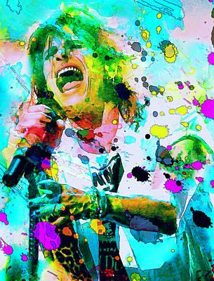 Steven Tyler Art Print by Rosalina Atanasova