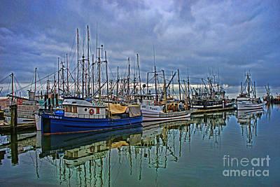 Vintage Performace Cars - Steveston Fishing Docks by Randy Harris