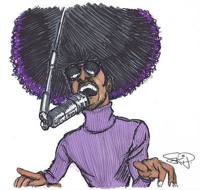 Stevie Afro Art Print by SKIP Smith
