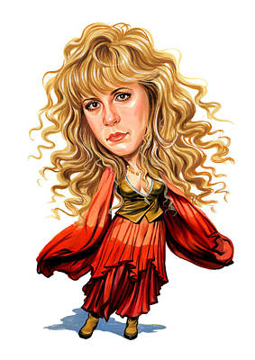 Comical Painting - Stevie Nicks by Art