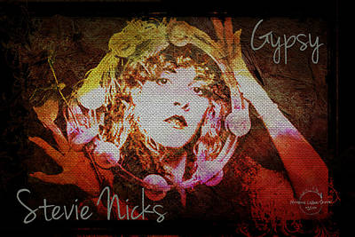 Digital Art - Stevie Nicks - Gypsy by Absinthe Art By Michelle LeAnn Scott