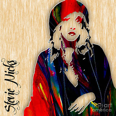 Stevie Nicks Art Print by Marvin Blaine