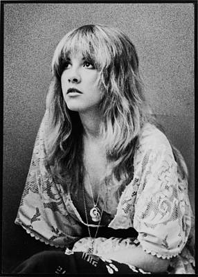 Black Photograph - Stevie Nicks by Georgia Fowler