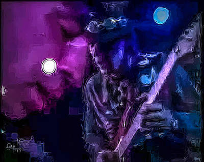 Photograph - Stevie Ray Vaughan - Lenny  by Glenn Feron