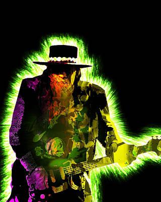 Stevie Ray Vaughan Print by Michael Lee