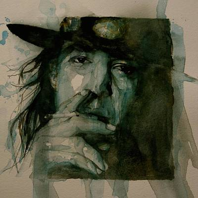 Faces Painting - Stevie Ray Vaughan by Paul Lovering