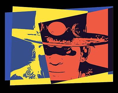 Srv Digital Art - Stevie Ray Vaughan Pop Art by Dan Sproul