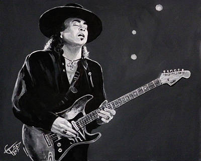 Srv Painting - Stevie Ray Vaughan by Tom Carlton