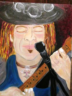 Painting - Stevie Ray Vaughn by Debby Reid