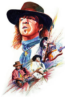 Stevie Ray Vaughn Art Print by Ken Meyer jr