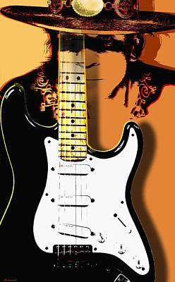Stevie Ray Vaughan Art Print by Larry Butterworth