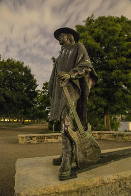 Stevie Ray Vaughn Statue In Austin Tx Art Print by John McGraw