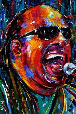 Stevie Wonder Art Print by Debra Hurd